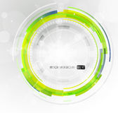 Abstract futuristic green circle.