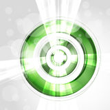 Abstract futuristic green circle Stock Photos