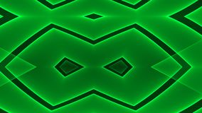 Abstract futuristic green colored empty floor background with glowing geometric shapes.  vector illustration
