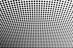 Abstract futuristic halftone pattern. Comic background. Dotted backdrop with circles, dots, point large scale. Black, white color Royalty Free Stock Photo