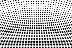 Abstract futuristic halftone pattern. Comic background. Dotted backdrop with circles, dots, point large scale. Black, white color Stock Photos