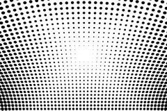 Abstract futuristic halftone pattern. Comic background. Dotted backdrop with circles, dots, point large scale. Black, white color Stock Photo
