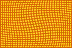 Abstract futuristic halftone pattern. Comic background. Dotted backdrop with circles, dots, point large scale.Yellow, orange color Royalty Free Stock Image