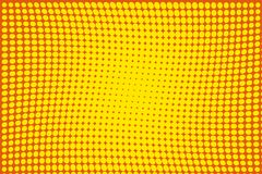 Abstract futuristic halftone pattern. Comic background. Dotted backdrop with circles, dots, point large scale.Yellow, orange color Stock Images