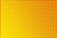 Abstract futuristic halftone pattern. Comic background. Dotted backdrop with circles, dots, point large scale.Yellow, orange color Stock Image