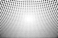 Abstract futuristic halftone pattern. Comic background. Dotted backdrop with circles, dots, point large scale. Black, white color Royalty Free Stock Photos
