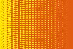 Abstract futuristic halftone pattern. Comic background. Dotted backdrop with circles, dots, point large scale.Yellow, orange color Stock Photography