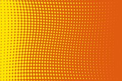 Abstract futuristic halftone pattern. Comic background. Dotted backdrop with circles, dots, point large scale.Yellow, orange color Stock Photo