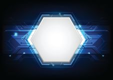 Abstract futuristic technology background. Abstract futuristic high computer technology. blue color background. Vector illustration Stock Photos