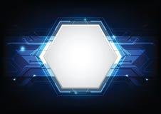 Abstract futuristic technology background. Abstract futuristic high computer technology. blue color background. Vector illustration Stock Illustration