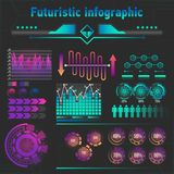 Abstract futuristic infographics stock illustration
