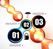 Abstract futuristic infographics template Stock Image