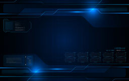 Abstract futuristic interactive computing screen design tech innovation concept background. Eps 10 vector stock illustration