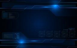 Abstract futuristic interactive computing screen design tech innovation concept background. Eps 10 vector Royalty Free Stock Photos