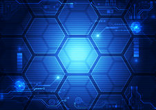 Abstract futuristic interface HUD technology background. Illustration Vector Stock Images