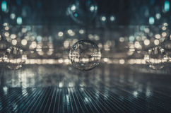 Abstract Futuristic interior glass reflect and refract background effect. Royalty Free Stock Photo