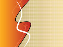 Abstract futuristic layout. Abstract futuristic page layout illustration, in different orange tones royalty free illustration