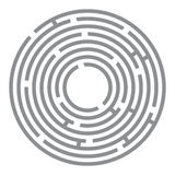 Abstract futuristic maze, gray circles on white Royalty Free Stock Photos