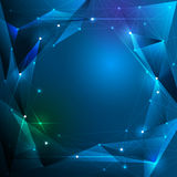 Abstract futuristic - Molecules and light polygons technology Royalty Free Stock Photo