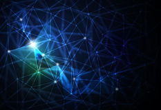 Abstract futuristic - Molecules technology background Stock Images