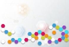 Abstract futuristic - Molecules technology Stock Photos