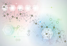Abstract futuristic - Molecules technology Royalty Free Stock Images