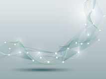 Abstract futuristic-Molecules and wave digital technology Stock Images
