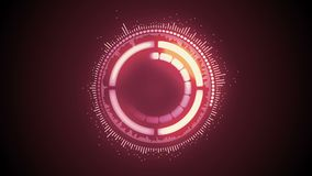 Abstract futuristic motion graphic glowing round clockwork mechanism assemble