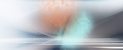 Abstract futuristic motion lines on horizontal surface backgroun Stock Photo