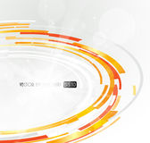 Abstract futuristic orange 3D circle. Vector art Royalty Free Stock Photo