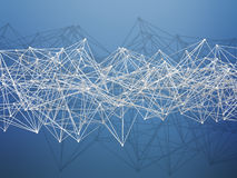 Abstract futuristic polygonal structure 3 d Stock Photos