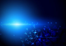 Abstract futuristic polygons and lines technology background Stock Images