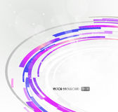 Abstract futuristic purple 3D circle. Royalty Free Stock Photos