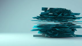 Abstract futuristic rotation geometric transformation motion graphic background stock video footage