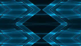 Abstract futuristic sci-fi background with blue colored glowing geometric shapes.  royalty free illustration
