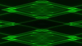Abstract futuristic sci-fi background with green colored glowing geometric shapes.  royalty free illustration
