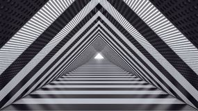 Abstract futuristic speed tunnel 3d render 3d illustration. Black and white Abstract futuristic speed tunnel 3d render 3d illustration Stock Photo