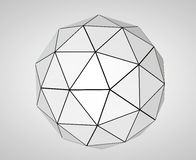 Abstract Futuristic Sphere. 3d Rendering Royalty Free Stock Photography