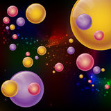 Abstract futuristic style background. Colorful 3D balls in space. Vector illustration Vector Illustration