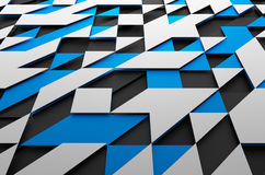 Abstract Futuristic Surface with Triangles Royalty Free Stock Photos