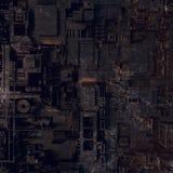 Abstract futuristic techno pattern. Digital 3d illustration Royalty Free Stock Image