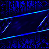 Abstract futuristic technological background of blue shades with with circuit board elements Stock Images