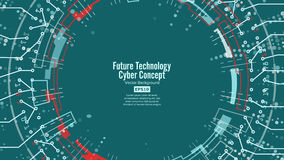 Abstract Futuristic Technological Background Vector. Security Cyberspace. Electronic Data Connect. Global System Stock Image
