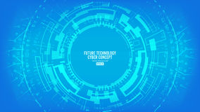 Abstract Futuristic Technological Background Vector. Security Print. Blue Electronic Network. Digital System Design Royalty Free Stock Photos