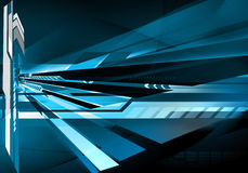 Abstract futuristic technology background. In blue Royalty Free Stock Photo