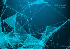 Abstract futuristic technology background. Connection structure polygonal space low poly dark background with connecting. Dots and lines vector illustration