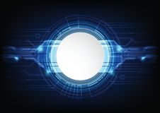 Abstract futuristic technology background. Abstract futuristic high computer technology. blue color background. Vector illustration Royalty Free Stock Photos