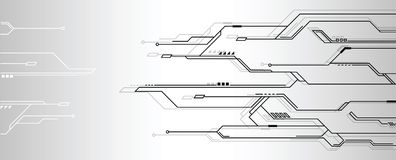 Abstract futuristic technology background. Abstract futuristic high computer technology. gray color background. Vector illustration
