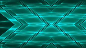 Abstract futuristic technology background with colorful glowing geometric shapes.  vector illustration