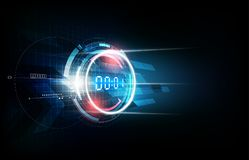 Abstract Futuristic Technology Background with Digital number timer concept and countdown, vector illustration. Eps10 Stock Photo